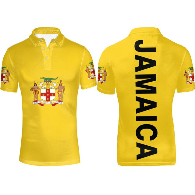 Jamaica Flag Coat of Arms Polo T-shirt