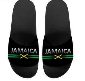 Jamaica Flag Butterfly Print Slippers
