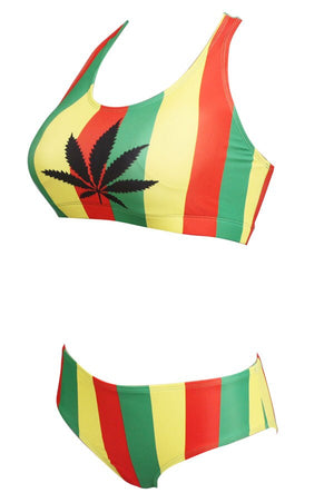 Rasta Two Piece Swimsuit