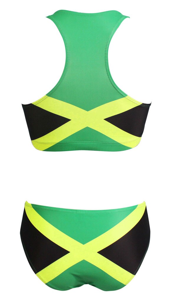 Jamaica Flag Two Piece Swimsuit