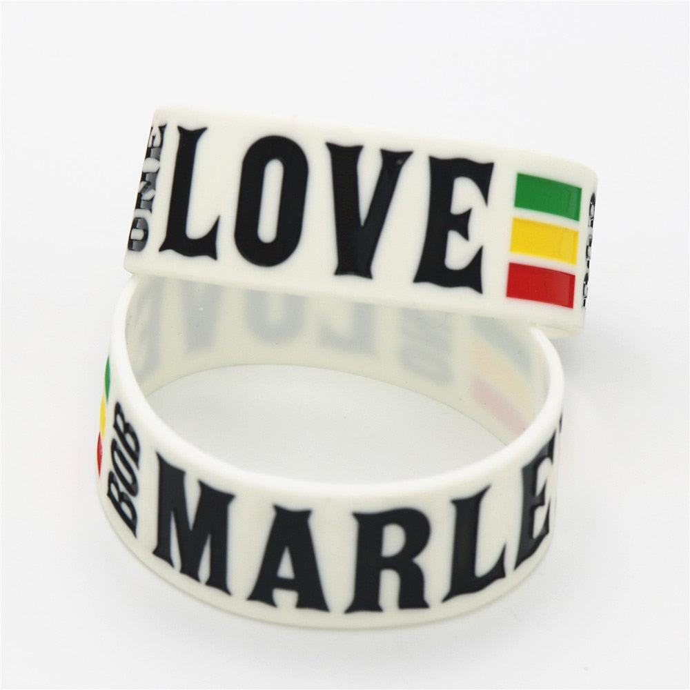 One Love BOB Marley Silicone Wristband