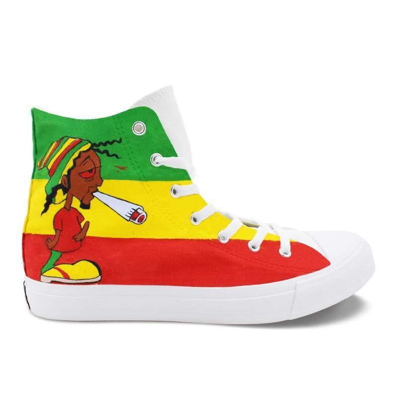 Rasta Hand Painted Canvas Shoes