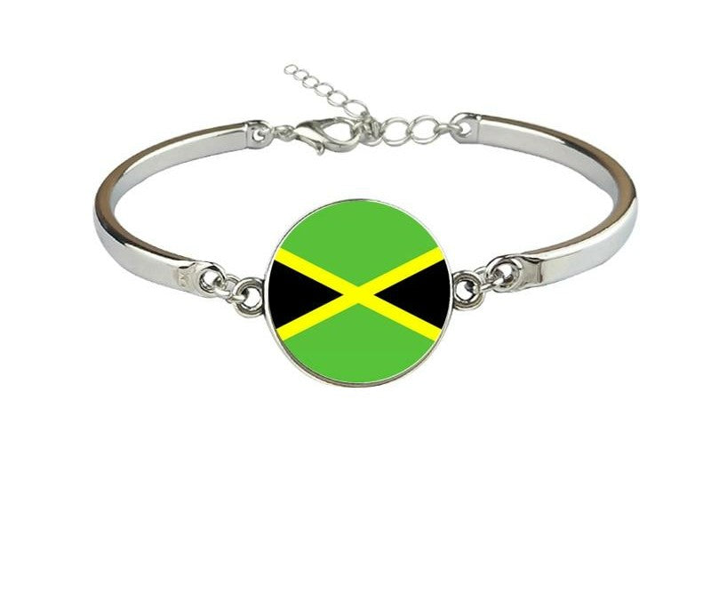 Jamaica Flag Map Bracelet