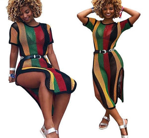 Rasta Fishnet Cover Up Dress