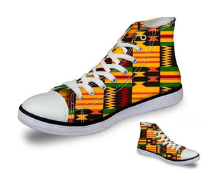 African Print Vulcanize Canvas Shoes
