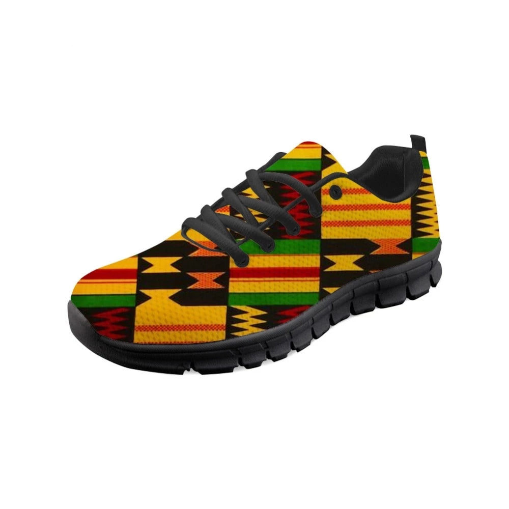 African Print Causal Lace-up Sneakers