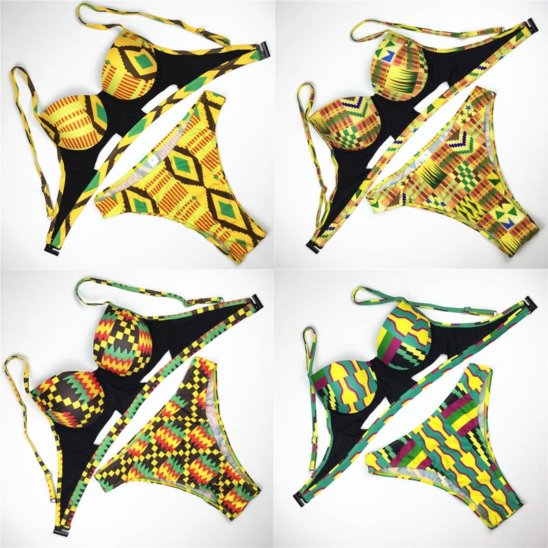 African Print Swimsuit