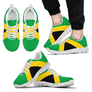 Jamaica Flag Mesh Lace Up Sneakers