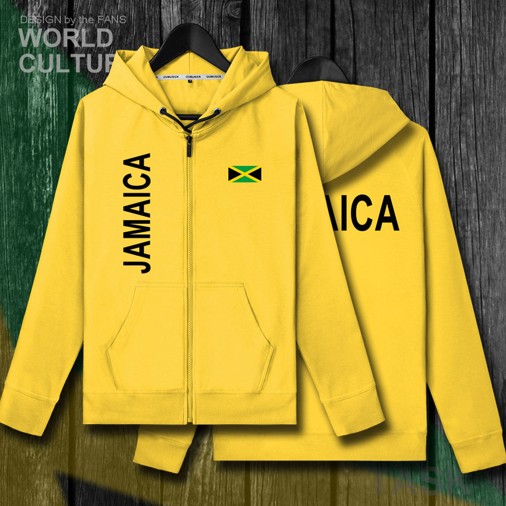 Jamaica Zipper Hooded Sweatshirt