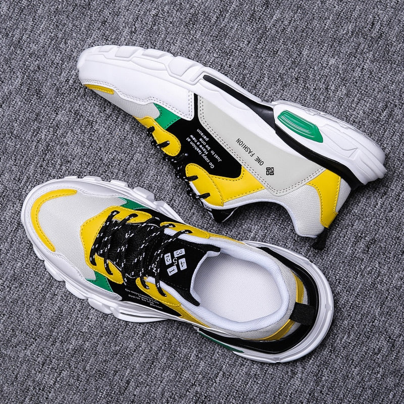 Jamaica Color Mesh Lightweight Lace-Up Sneakers