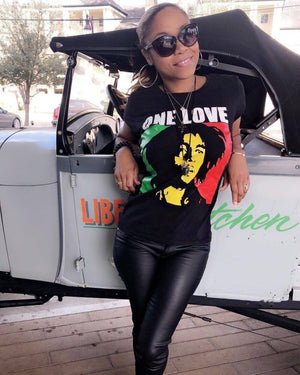 One Love Bob Marley Women's T-Shirt