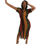 Rasta Stripe Cover Up Dress