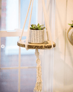 Macrame Plant Hanger with Tray