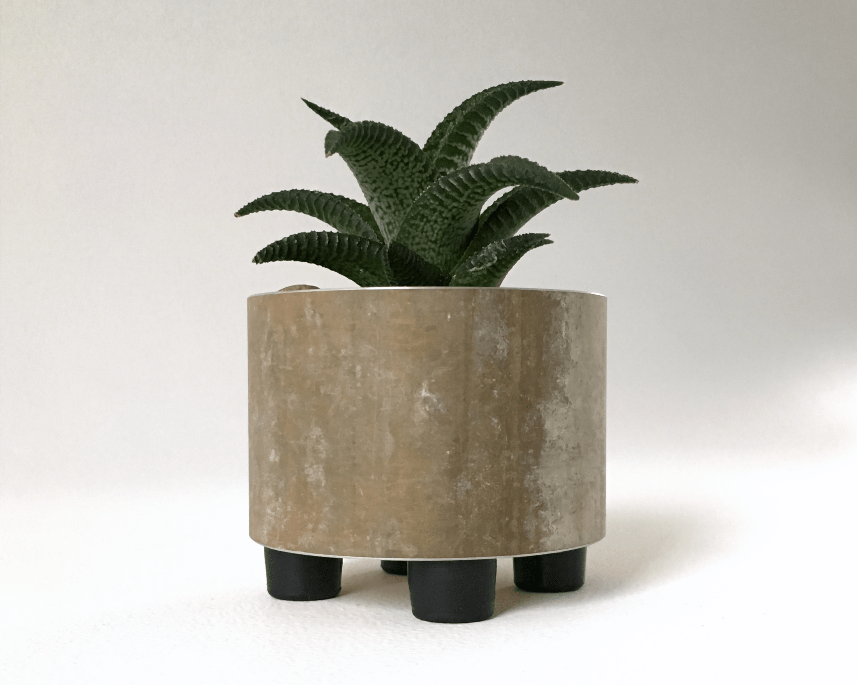 Mini Succulent Planter in Recycled Rustic Metal