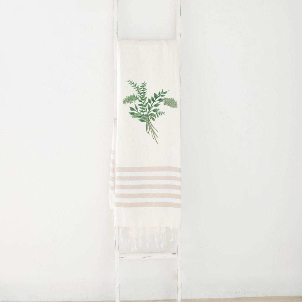 Eucalyptus Bunch Watercolor Throw Blanket