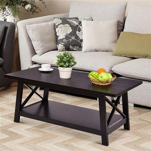 Modern Coffee Table with Crossing Ends - Hop Decor