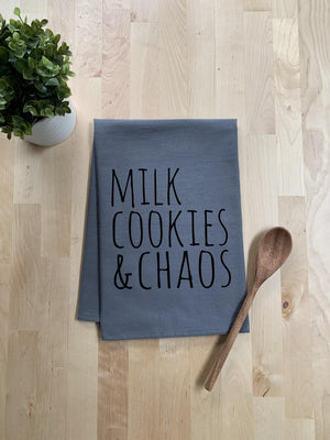 Milk Cookies & Chaos Dish Towel - White Or Gray