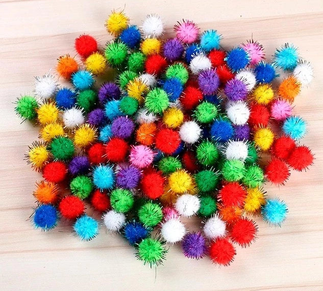 Multicoloured Handmade Felt Ball Garland - Hop Decor