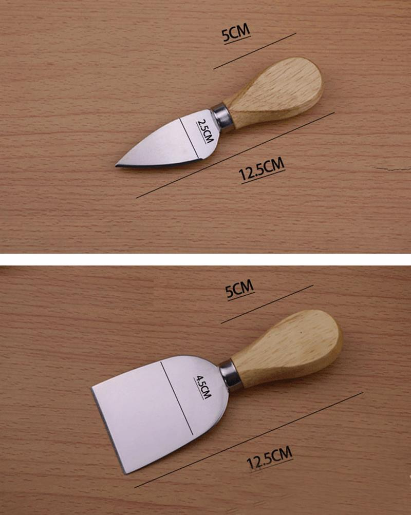Wooden Handle Cheese Knives (Set of 4) - Hop Decor