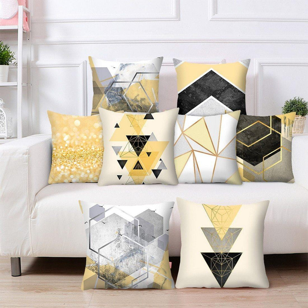 Busy Yellow Throw Pillow