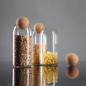 Glass Ball Spice Jar - Hop Decor