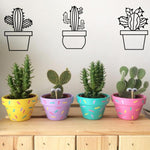 Cactus Metal Wall Art - 6 Pieces - Hop Decor