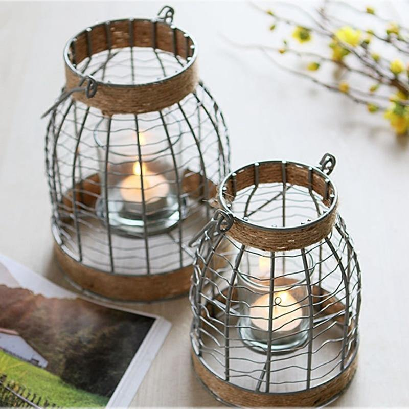 Rustic Candle Holder - Hop Decor