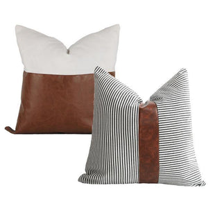 Neutral Throw Pillows - Set of 2 - Hop Decor