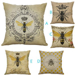 Retro Bee Pillow Covers
