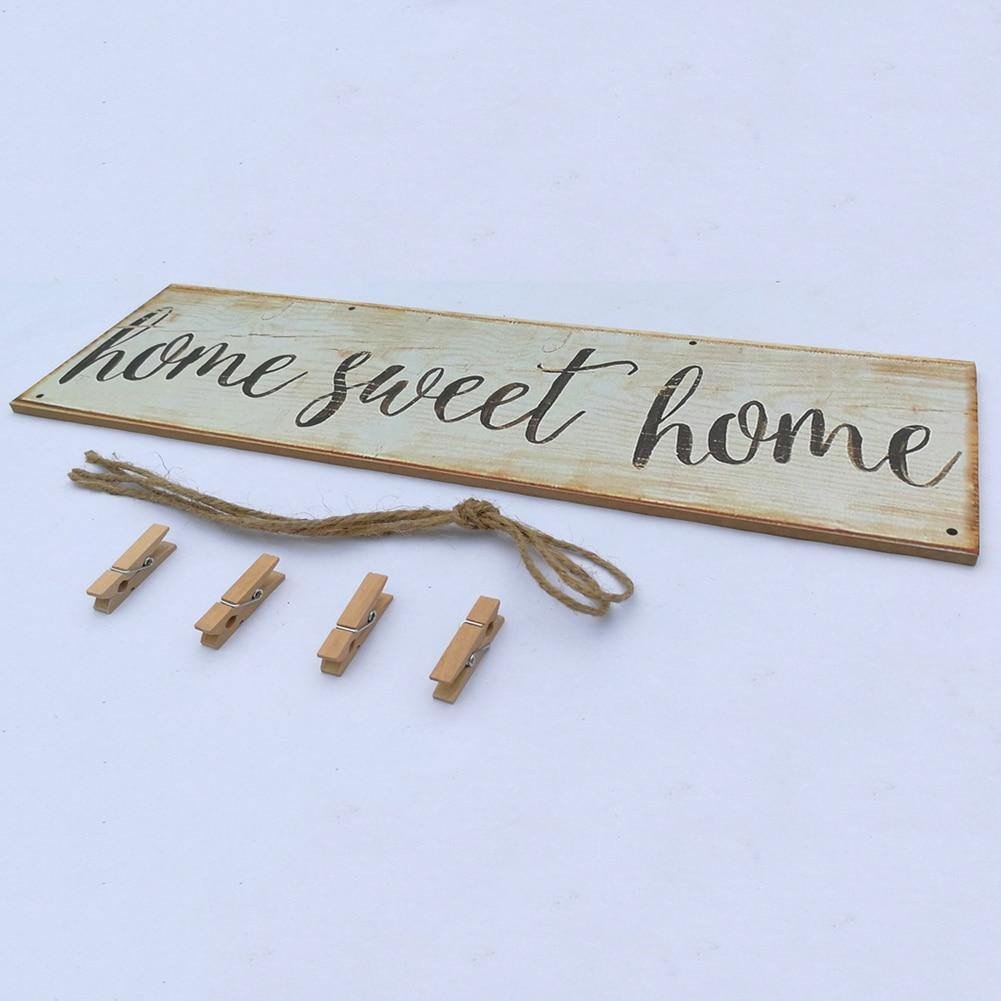 Vintage Sweet Home Wall Hanging - Hop Decor