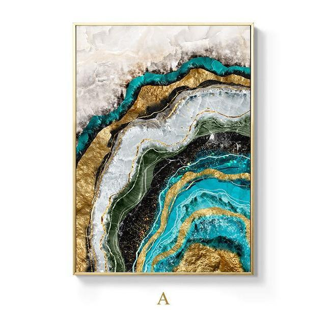Geo Abstract Canvas Poster - Hop Decor