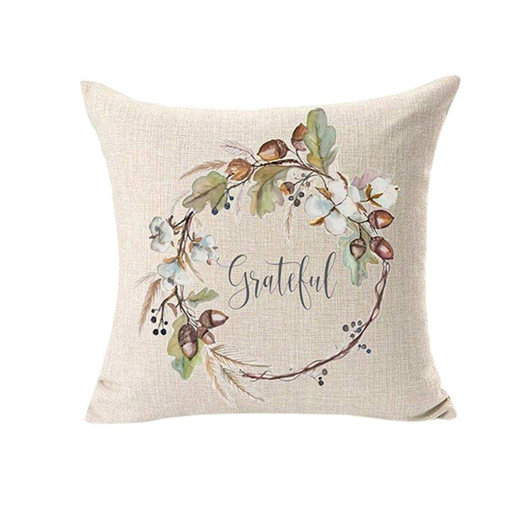 Blushing Blue Harvest Cushion Cover - 4 Piece