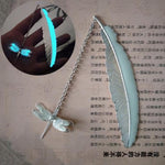 Metal Feather Bookmark