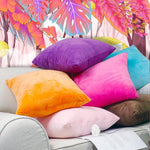 Vibrant Velvet Pillow Cover