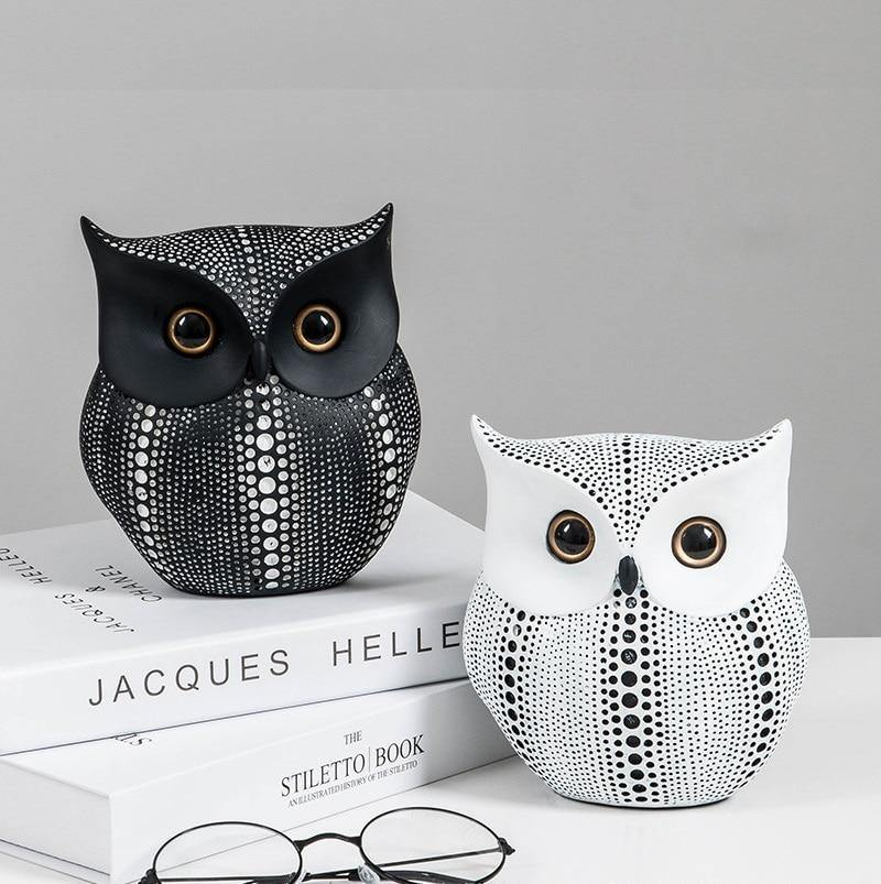 Modern Owl Figurine - Hop Decor