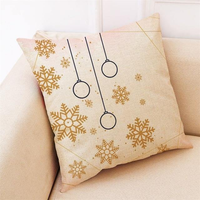 Light Christmas Pillow Covers