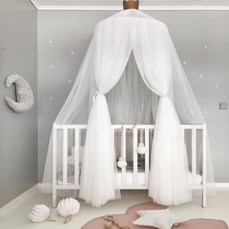 Sheer Layered Bed Canopy (Mosquito Net) - Hop Decor