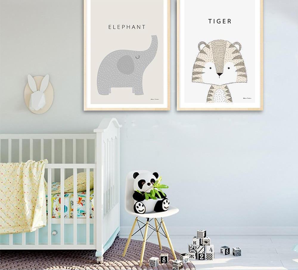 Illustrated Animal Posters - Hop Decor