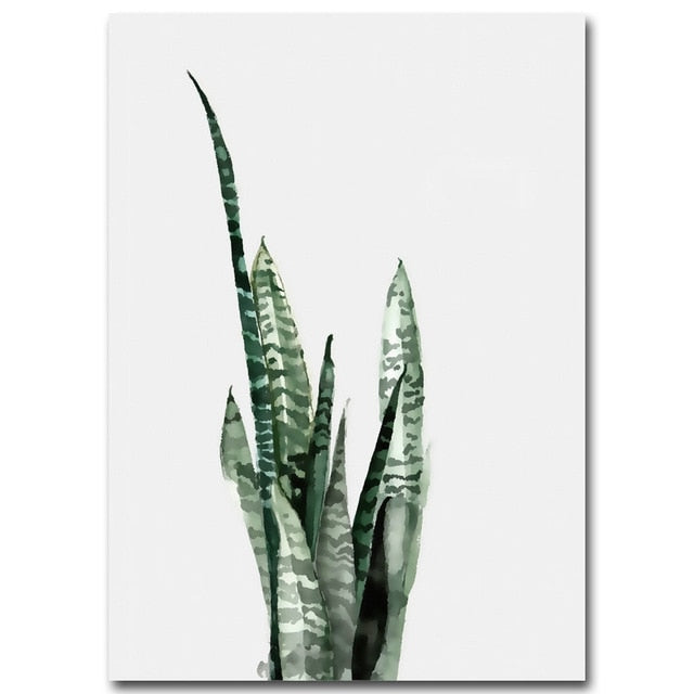 Watercolor Leaves Canvas Prints - Hop Decor