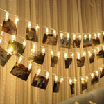 LED String Light Garland Photo Clip (Battery Operated) - Hop Decor