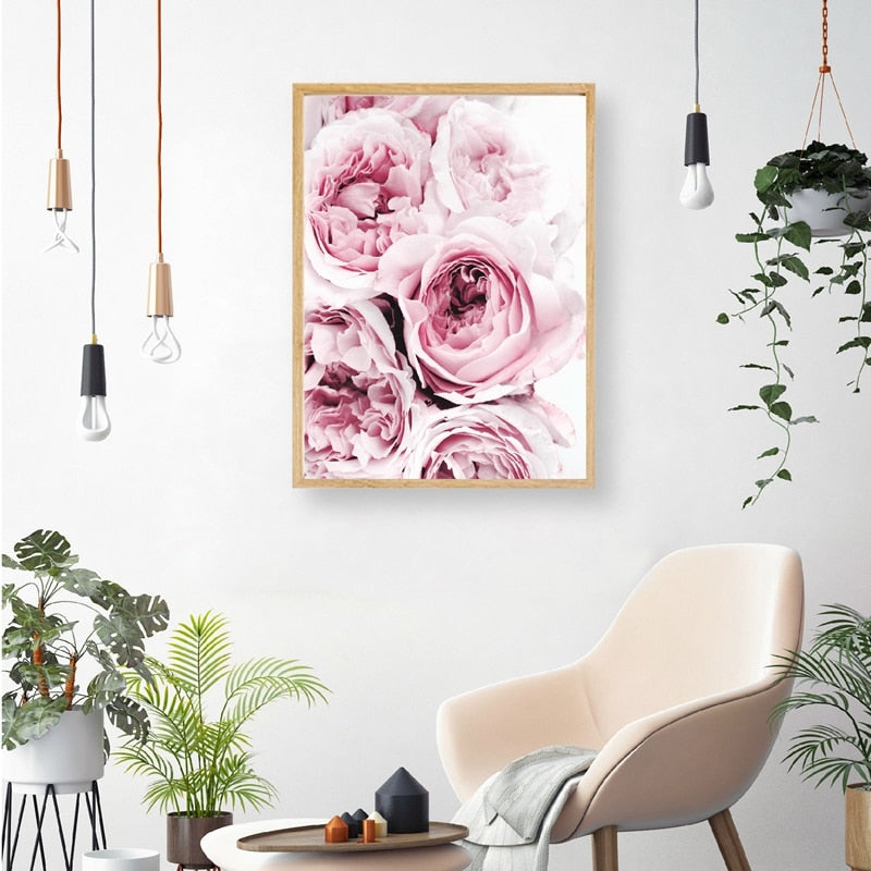 Pink Peony Canvas Wall Art - Hop Decor