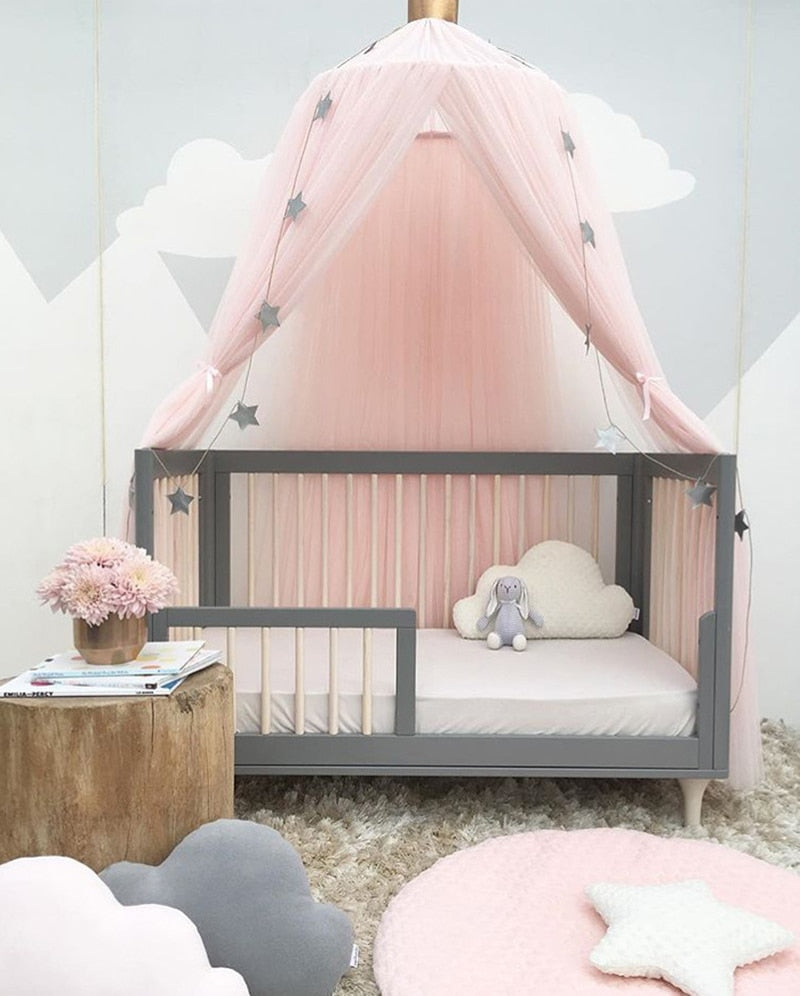 Sheer Round Bed Canopy for Kids Room (Mosquito Net) - Hop Decor
