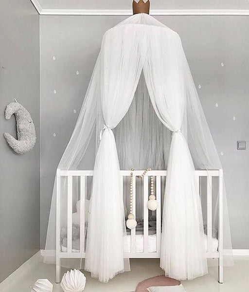 Sheer Round Bed Canopy For Kids Room Mosquito Net Hop