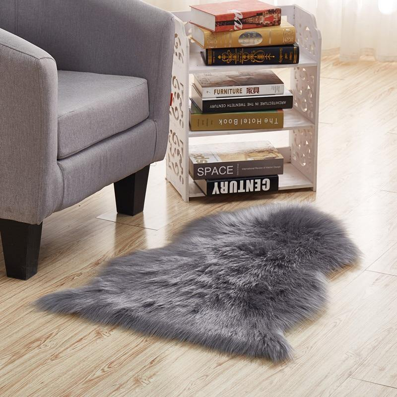 Faux Sheepskin Area Rug - Hop Decor