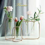 Gold Plated Flower Vase - Hop Decor