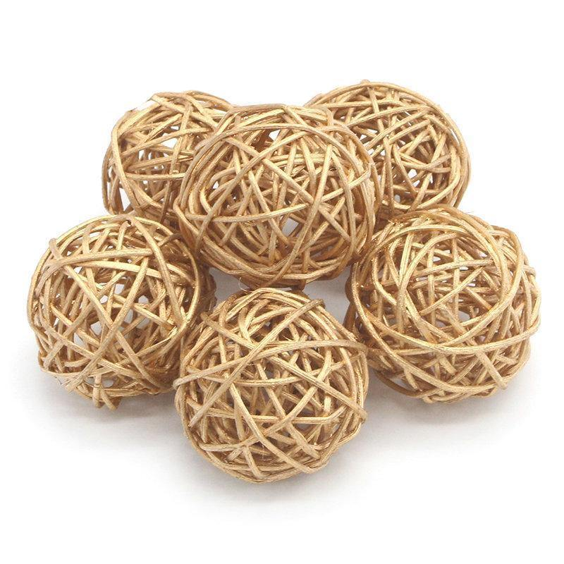 Gold Wicker Decorations - Hop Decor