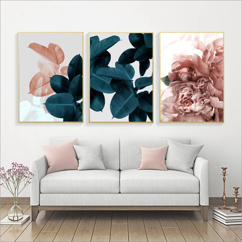 Leafy Botanical Canvas Prints - Hop Decor