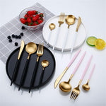 Gold Dinnerware Set (4 Pcs) - Hop Decor