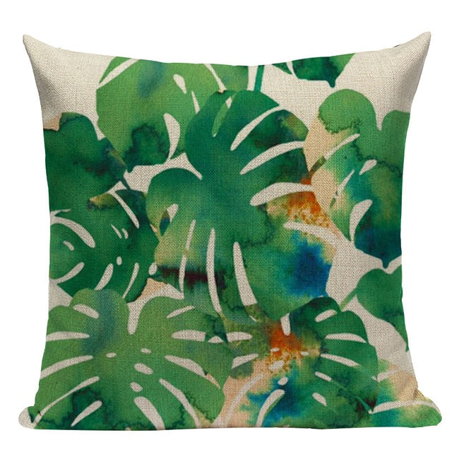 Rainforest Foliage Cushion Covers - Hop Decor
