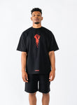 Defiance T-Shirt - Black/Red